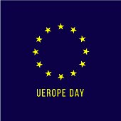 Europe Day Vector Template Design Illustration