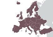 Europe detailed map