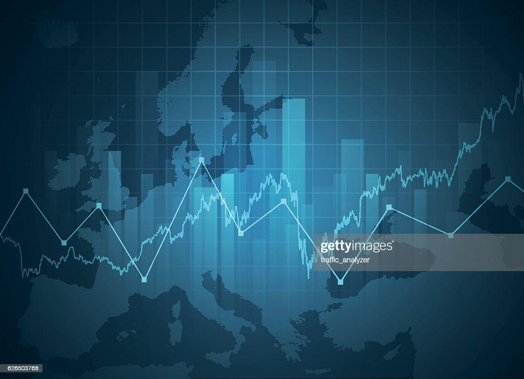 Europe financial background : stock illustration