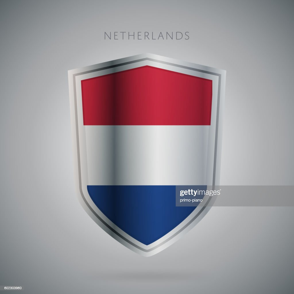 Europe flags series, vector. Netherland icon.