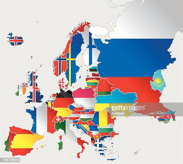 europa flags - montenegro stock-grafiken, -clipart, -cartoons und -symbole