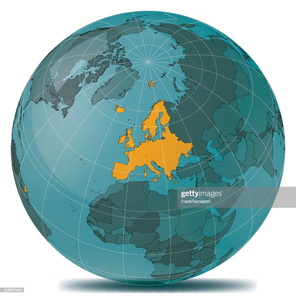 Europa-Highlight-Erde : Vektorgrafik