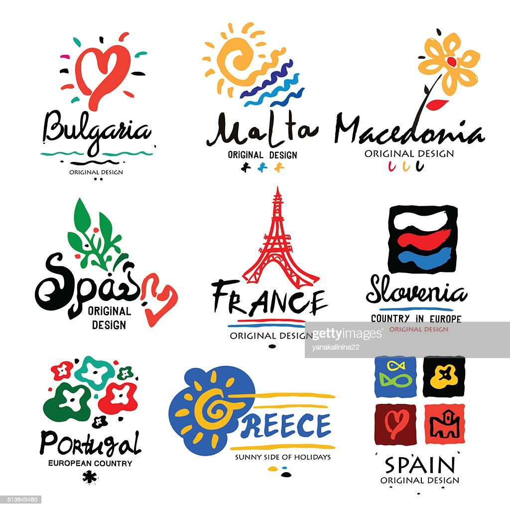 Europe logo. Logo for travel agencies.