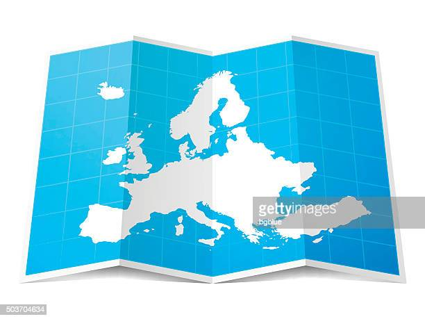 stockillustraties, clipart, cartoons en iconen met europe map folded, isolated on white background - benelux