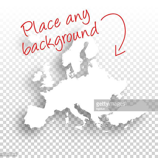 Europe Map for design - Blank Background