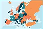 Europe Map - Illustration