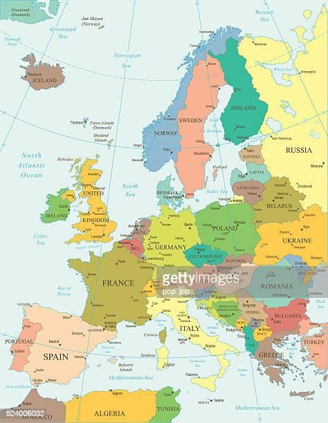 Europa-Karte-illustration