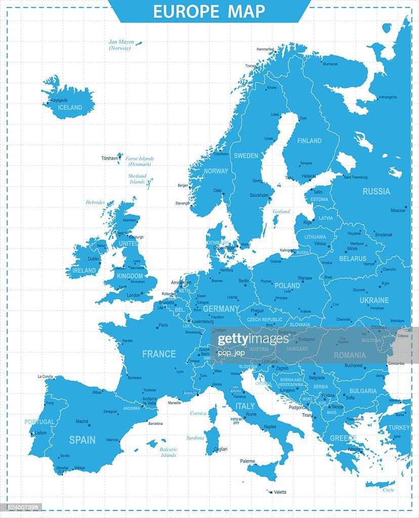 Picture of: Europe Map Illustration High Res Vector Graphic Getty Images