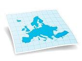 Europe Map isolated on white Background