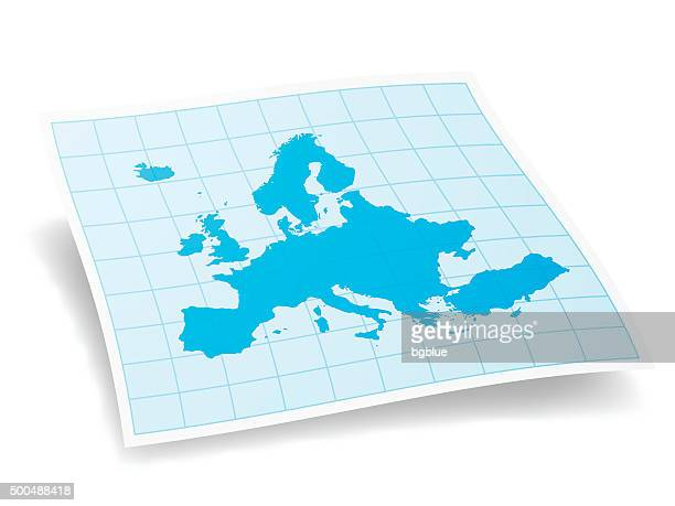 europe map isolated on white background - balkans stock illustrations, clip art, cartoons, & icons