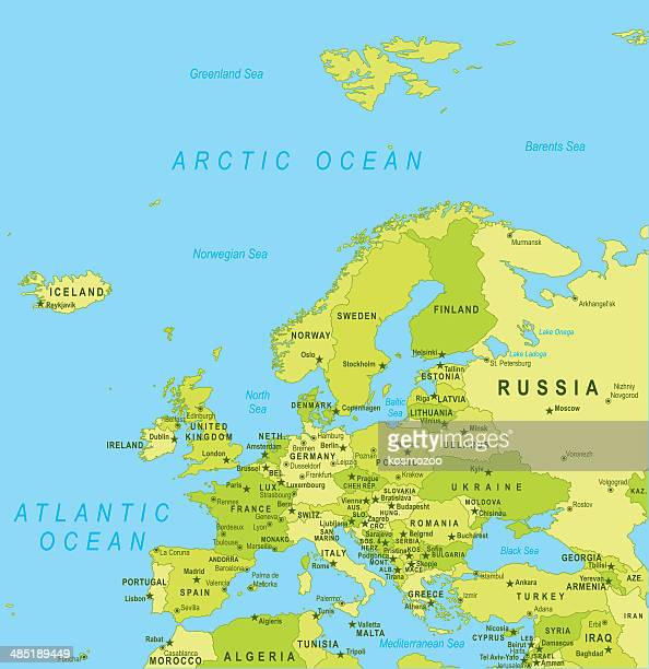 europe map - eastern europe stock illustrations, clip art, cartoons, & icons