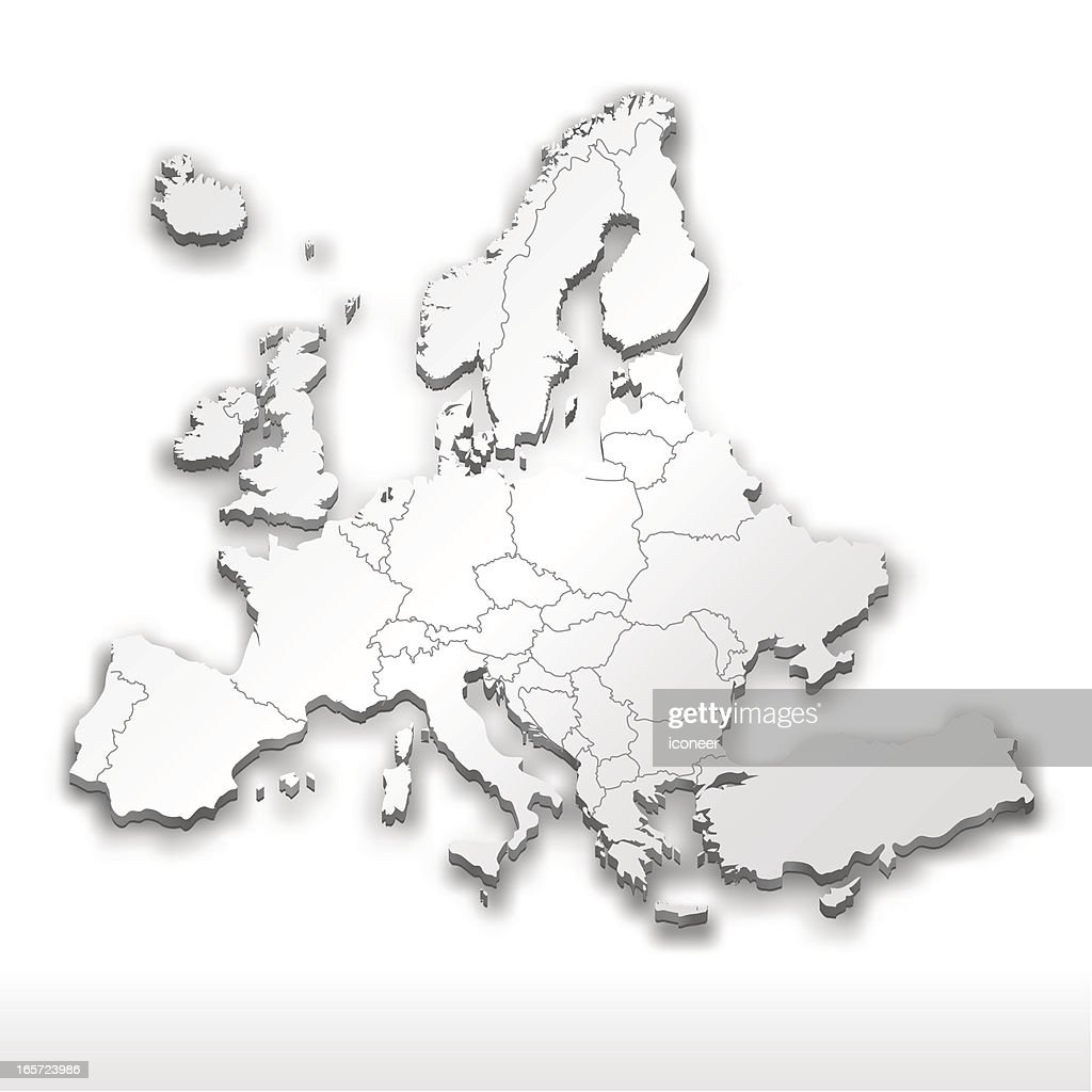 Europe Map White Vector Art Getty Images
