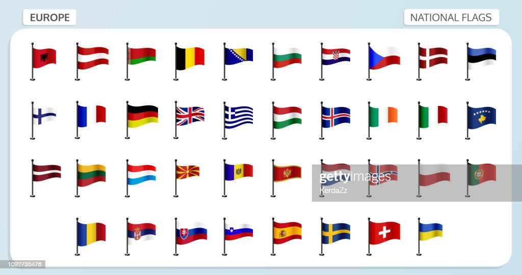 Europe national flags