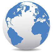 Europe, North, South America, Africa Global World