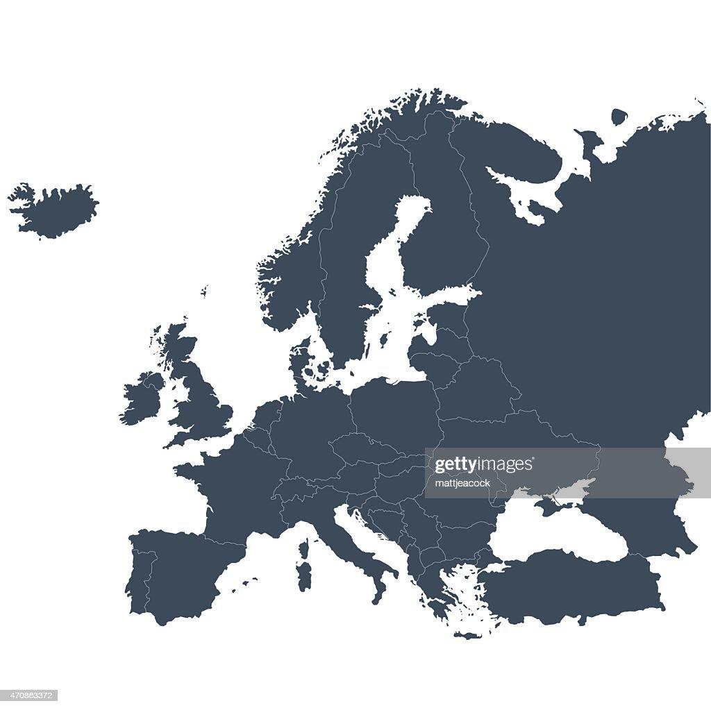 ヨーロッパの地図のアウトライン : ストックイラストレーション