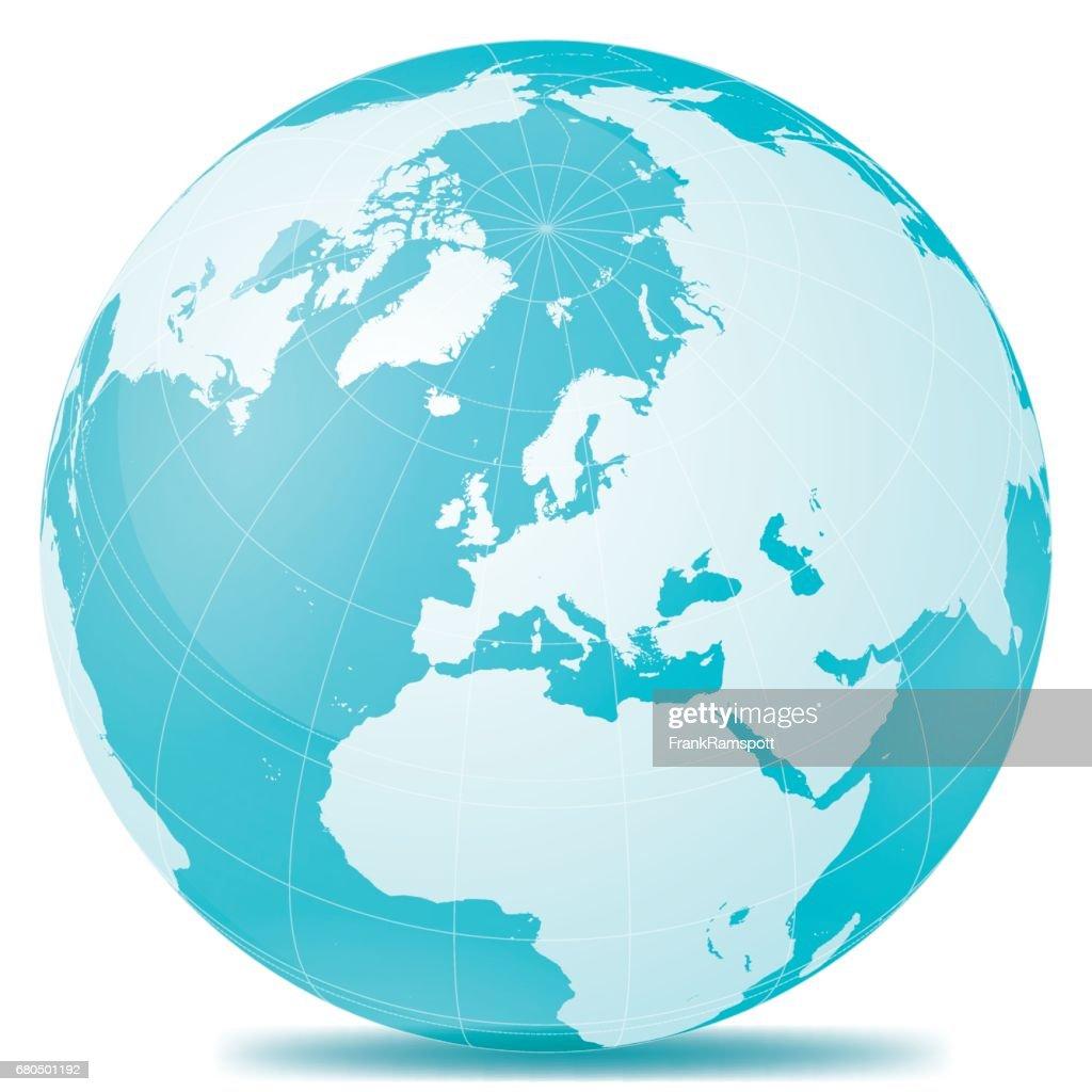 Erde Europa blau weiss : Stock-Illustration
