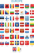 Europe - Square Flags - Illustration