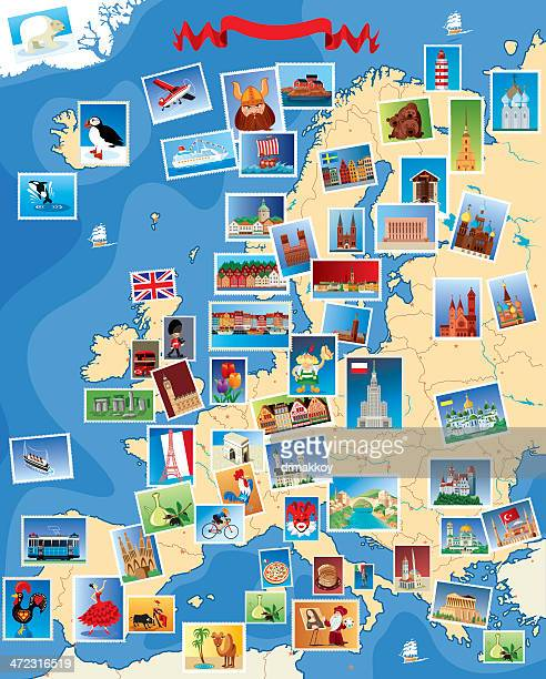 europe stamps map - helsinki stock illustrations, clip art, cartoons, & icons