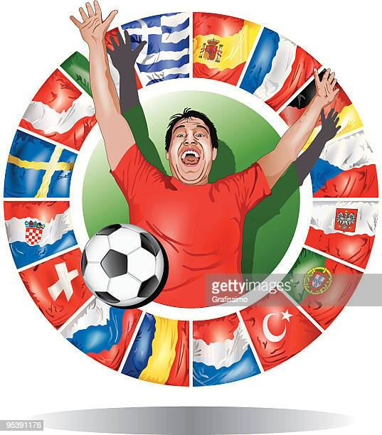 europameisterschaft 2008 - polnische flagge stock-grafiken, -clipart, -cartoons und -symbole
