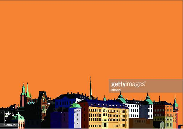 european classic architecture - spire stock illustrations, clip art, cartoons, & icons