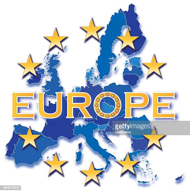 european community with all countries - central europe stock illustrations, clip art, cartoons, & icons