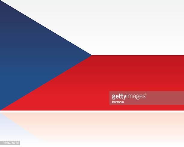 european flag: czech republic - czech republic stock illustrations