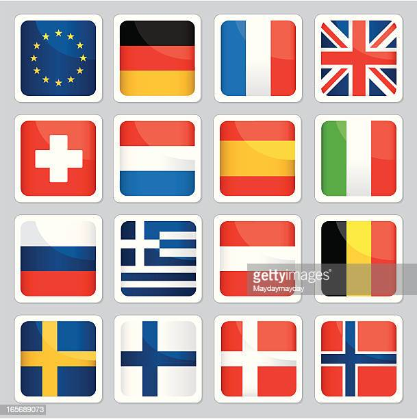 Europäische Flagge Symbole