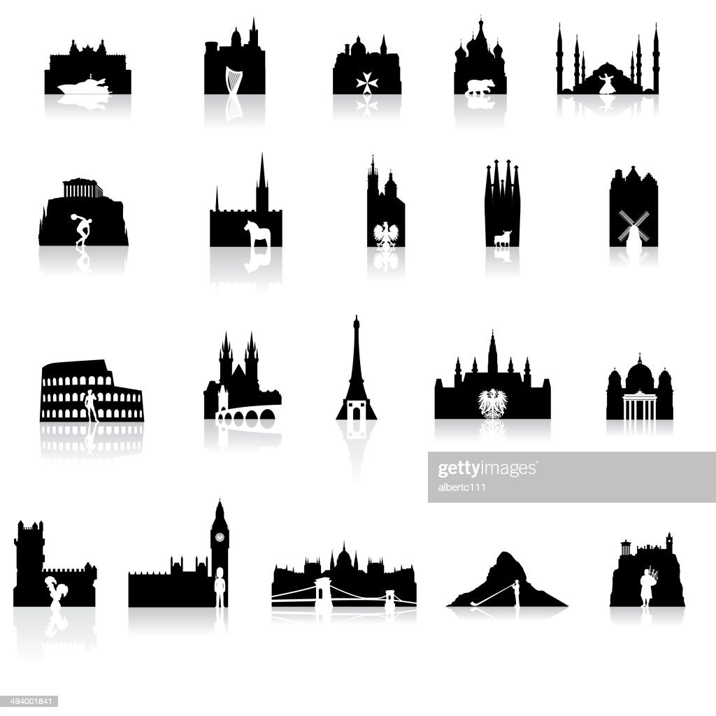 European Icons Super Set : stock illustration