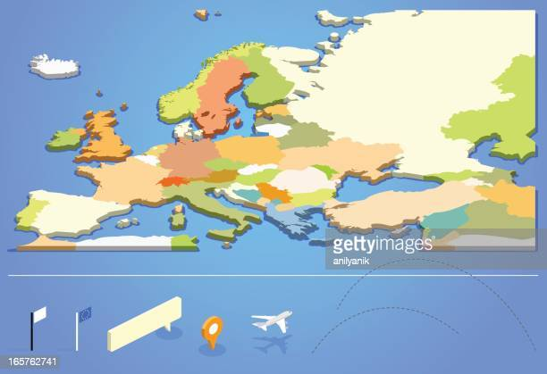Graphic design of European map
