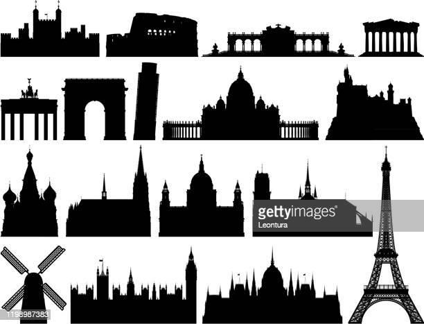 ilustrações de stock, clip art, desenhos animados e ícones de european monuments - st. peter's basilica the vatican