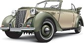 European prewar luxury convertible