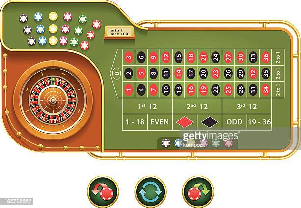 european roulette interface - roulette stock illustrations