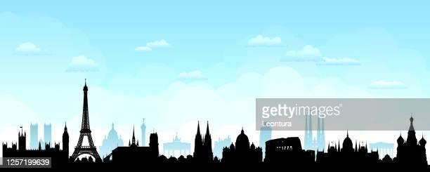 ヨーロッパのスカイライン(すべての建物が完成し、移動可能です) - セントラル・ロンドン点のイラスト素材/クリップアート素材/マンガ素材/アイコン素材