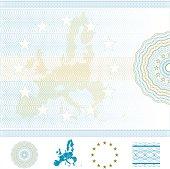European Union Blank Diploma or Certificate