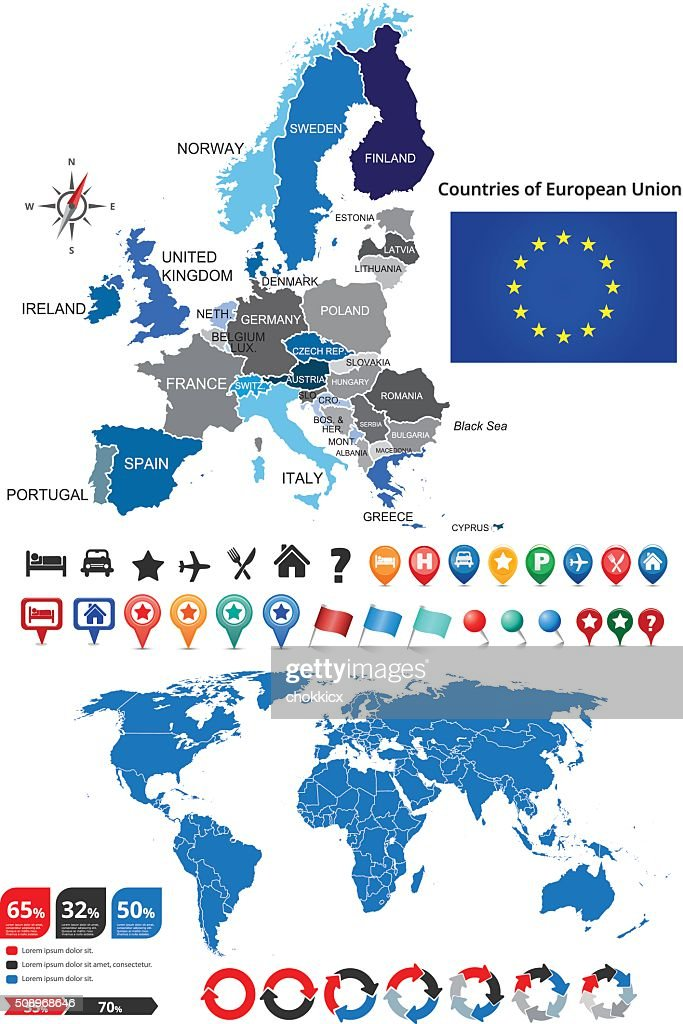 Picture of: European Union Countries Map High Res Vector Graphic Getty Images