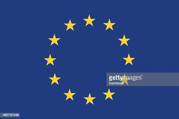 stockillustraties, clipart, cartoons en iconen met european union flag with blue background and yellow stars - europa geografische locatie