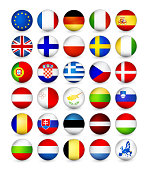 European Union Flags round badges