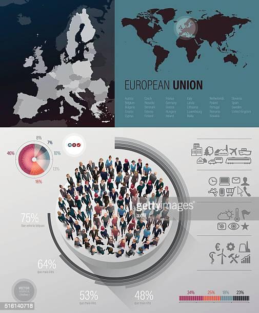 european union infographic - tours france stock illustrations, clip art, cartoons, & icons