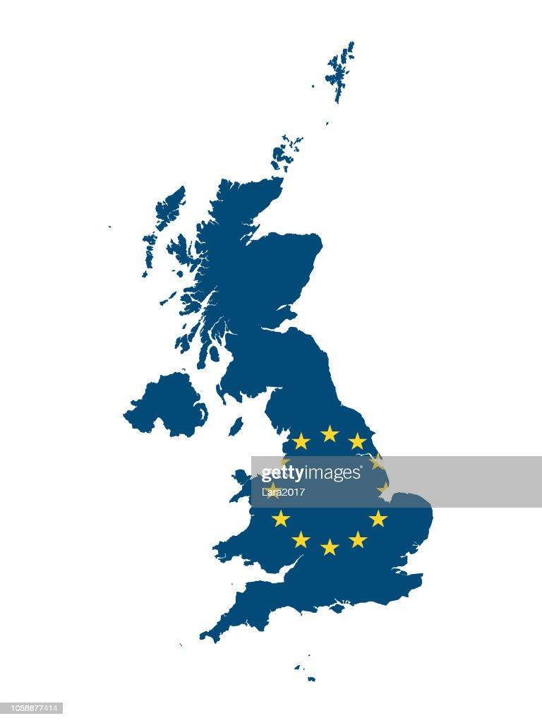 European Union Map of United Kingdom