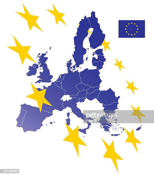 Europäischen Union Karte (siehe Beschreibung – links zu flags