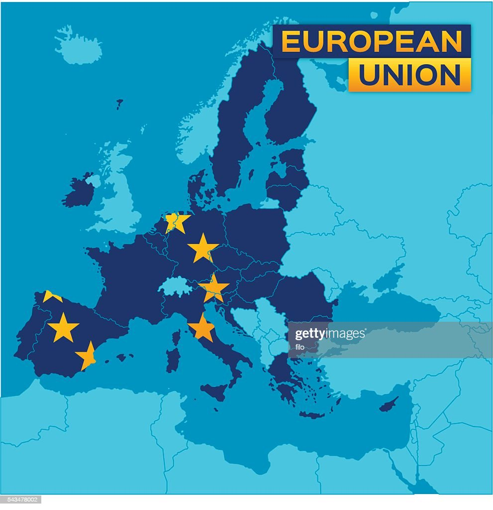 European Union Map Stock Illustration - Getty Images
