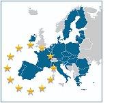 European Union map without UK.