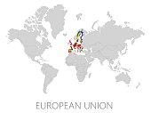 European  Union on world map