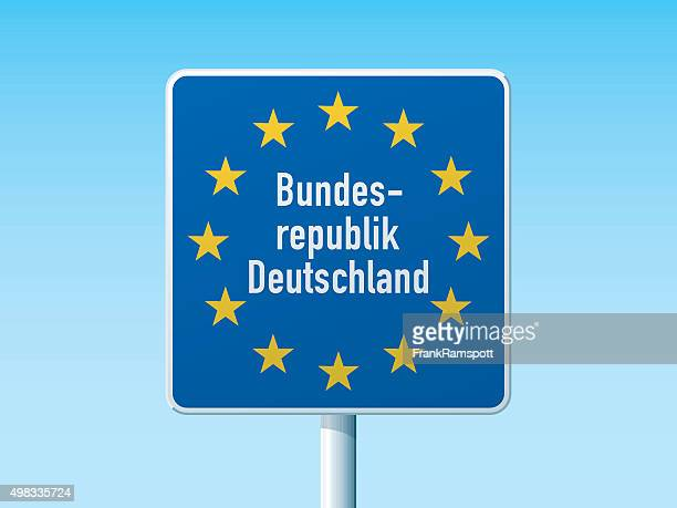 Union State Border Deutschland Road Sign
