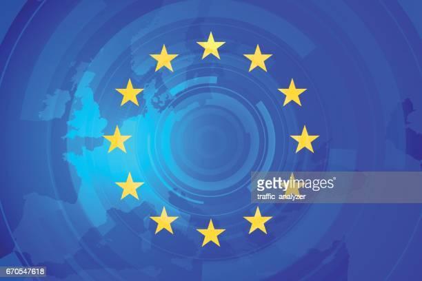 illustrazioni stock, clip art, cartoni animati e icone di tendenza di european union - la comunità europea
