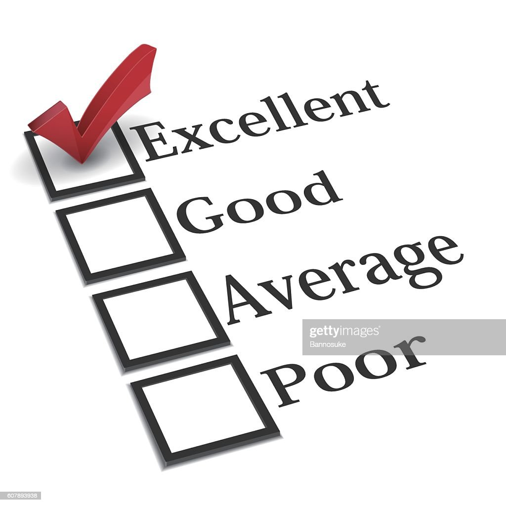 Evaluation checklist with red check mark