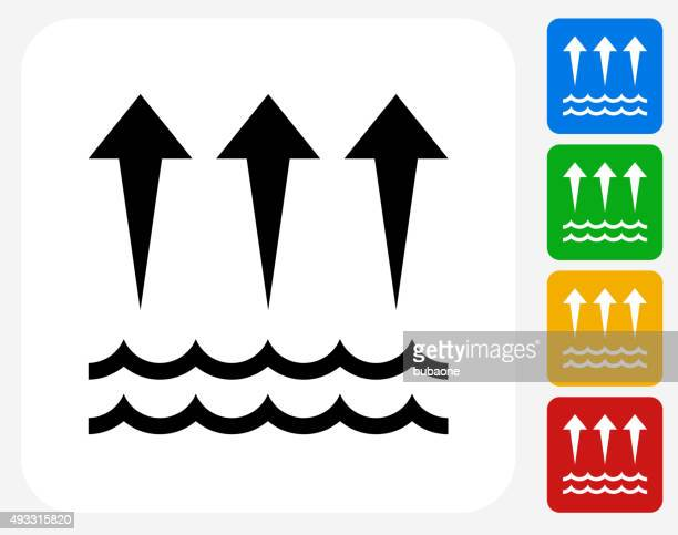 evaporation  icon flat graphic design - water cycle stock illustrations, clip art, cartoons, & icons