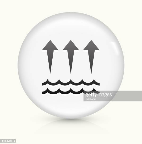 evaporation  icon on white round vector button - water cycle stock illustrations, clip art, cartoons, & icons