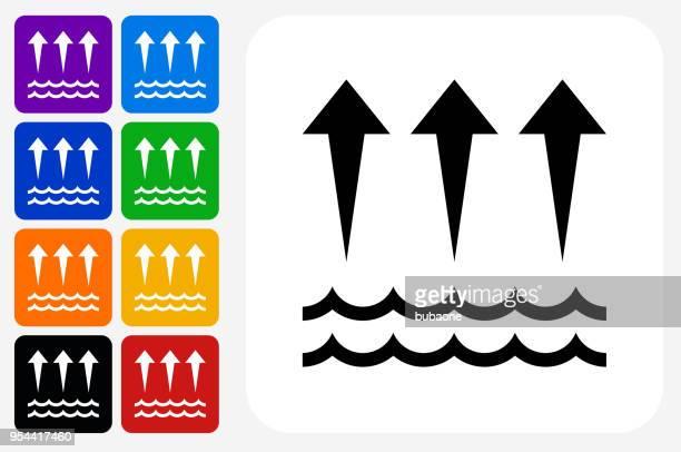 Evaporation  Icon Square Button Set