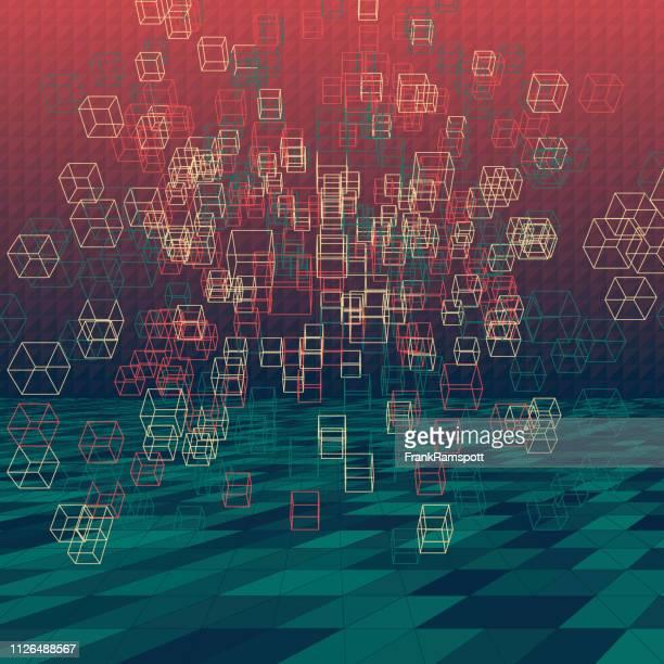 Am Abend abstrakte 3D-Vektor Cube